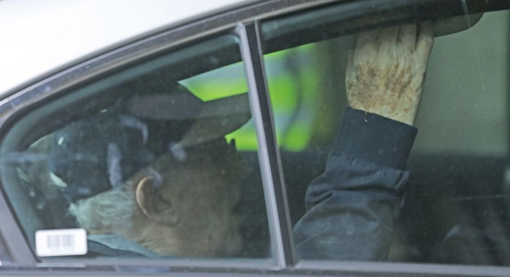 Lord Greville Janner is driven into Westminster Magistrates Court in London, Friday, Aug. 14, 2015. He was accused of 22 alleged child sex offenses committed in the 1960s, 1970s and 1980s. (AP Photo/Frank Augstein)