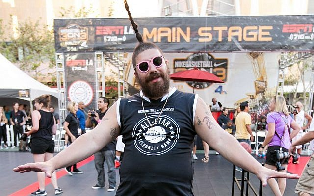 Josh 'The Fat Jew' Ostrovsky attends the Nike Basketball 3ON3 Tournament - ESPNLA 710 All-Star Celebrity Game held at L.A. LIVE's Microsoft Square on Friday, August 7, 2015, in Los Angeles. (John Salangsang/Invision/AP)