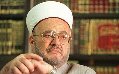 Former mufti of Jerusalem, Sheikh Ekrima Sabri. (AP/Joao Silva)