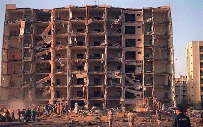 Khobar Towers after 1996 bombing that killed 19 US airmen. (Wikipedia/Public Domain)