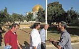 Illustrative: Jewish visitors on the Temple Mount,  September 2014 (Michael Naftali Unterberg Facebook page)