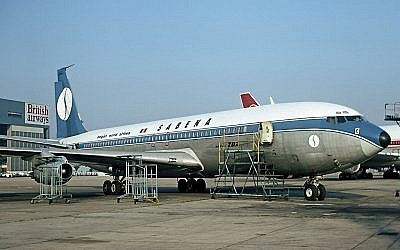 The Sabena aircraft that had been hijacked in 1972. (Steve Fitzgerald/Wikimedia Commons)