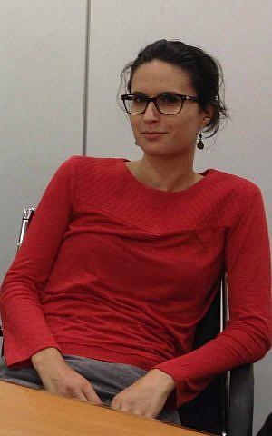 Begin Center's Israel Government Fellows program participant Dr. Camille Morliere, 29, from Paris, became an Israeli citizen three months ago. (Amanda Borschel-Dan/The Times of Israel)