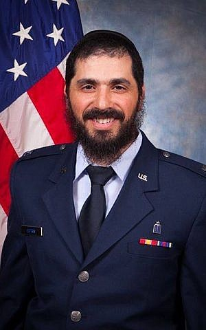 Captain Elie Estrin said his desire to join the chaplaincy was as a way to relate to students at the  Rohr Chabad House for Jewish Life at the University of Washington in Seattle. (courtesy)