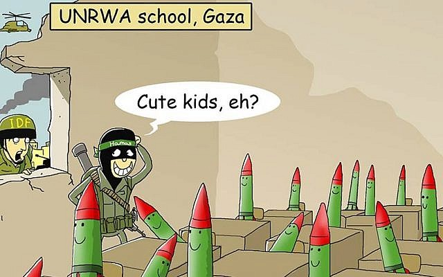 A caricature by Yossi Shahar posted on the Israeli Cartoon Project Facebook page [courtesy/The Israeli cartoon Project/Yossi Shahar]