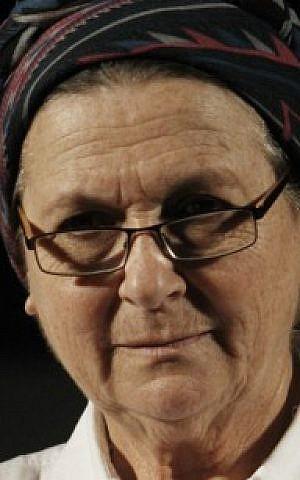 Israeli right-wing activist Daniella Weiss on February 13, 2014 (Miriam Alster/FLASH90)