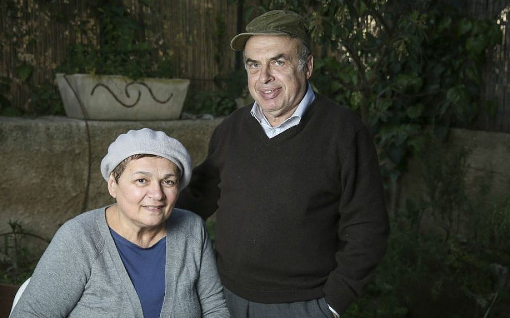 Portrait of Natan and Avital Sharansky at their home in Jerusalem, on March 31, 2015. (Hadas Parush/Flash90)