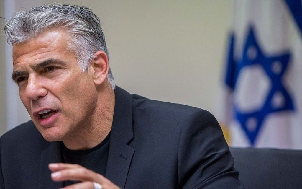 Yair Lapid, July 27, 2015. (Yonatan Sindel/Flash90)