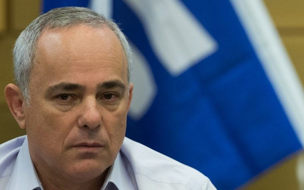 Energy Minister Yuval Steinitz attends a Likud faction meeting at the Knesset on July 27, 2015. (Yonatan Sindel/Flash90)