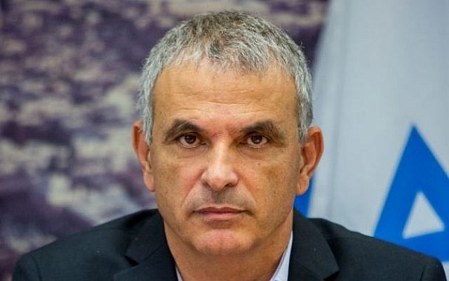 Finance Minister Moshe Kahlon seen as he presents the proposal for the state budget for 2015 at the Ministry of Finance in Jerusalem, August 2, 2015. (Yonatan Sindel/Flash90)