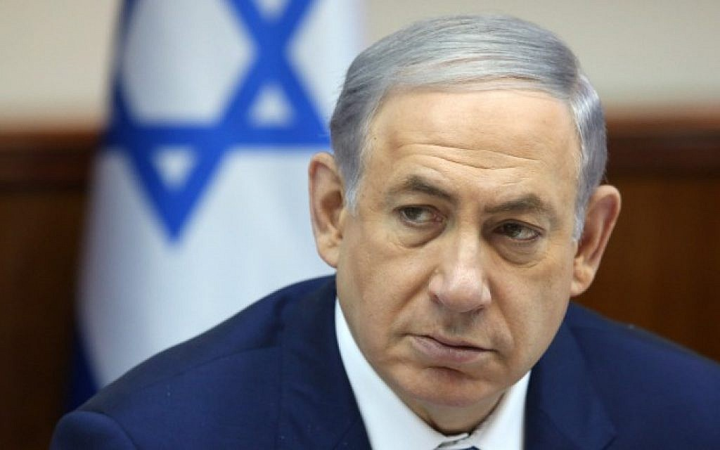 Prime Minister Benjamin Netanyahu leads the weekly cabinet meeting in Jerusalem on August 5, 2015. (Marc Israel Sellem/Pool/Flash90)