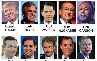Graphic shows first Republican debate participants. (AP)