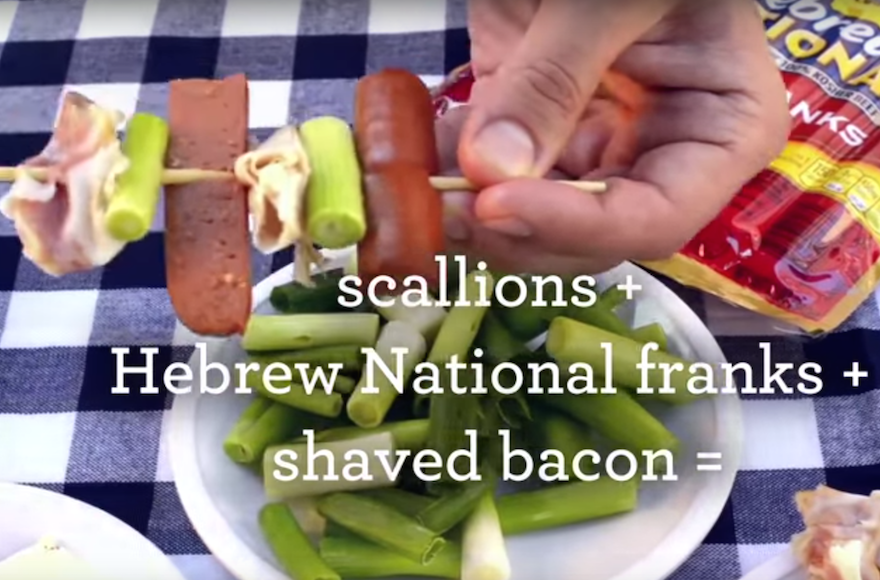 Hebrew national goes kosher on videos the times of israel a hebrew national ad suggesting a recipe with bacon for a hog wild stack forumfinder Choice Image