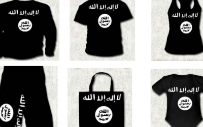 Spain arrests man for selling shirts bearing the logo of the Islamic State group on August 12, 2015. (Spanish Interior Ministry)