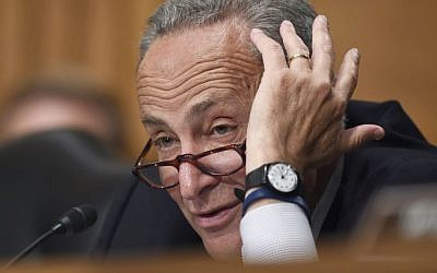 In this July 16, 2015 file photo, Sen. Charles Schumer, D-N.Y., speaks during a hearing on Capitol Hill in Washington, Thursday. (AP/Susan Walsh)