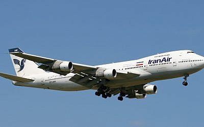 File: Illustrative photo of an Iran Air Boeing 747 passenger plane. (CC BY-SA/Wikimedia/Mike P)