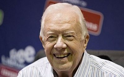 Former US president Jimmy Carter is seen in Philadelphia, July 10, 2015. (AP/Matt Rourke, File)