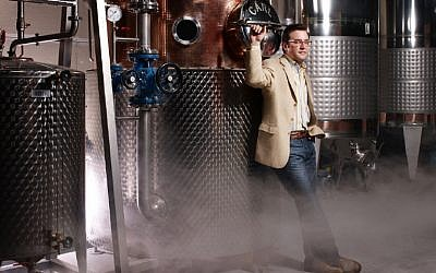Spirits expert Allen Katz hanging out at the New York Distillery Company. (courtesy)