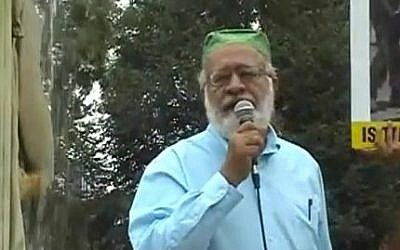 Kaukab Siddique at the al-Quds Day Rally in Washington DC, 2010 (screen capture: YouTube)