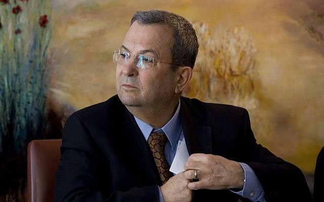 In this Monday Jan. 17, 2011 file photo, former Israeli defense minister Ehud Barak attends a press conference at the Knesset, Israel's parliament, in Jerusalem. (AP/Bernat Armangue, File)