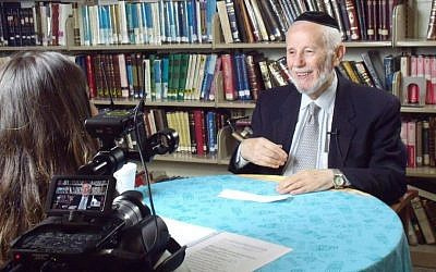 A Holocaust survivor is interviewed at Yeshiva University High School for Girls. (Names, Not Numbers)
