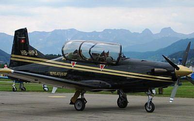 Illustrative image of the Pilatus PC-9 at the Bern-Belp Airport, Switzerland (CC BY-SA/Alexander Flühmann/Wikimedia)