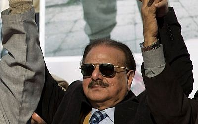 In this Feb. 5, 2015 file photo, former chief of Pakistan Inter Services Intelligence (ISI), Hameed Gul attends a rally to mark Kashmir Day in Islamabad, Pakistan.  (AP Photo/B.K. Bangash, File)