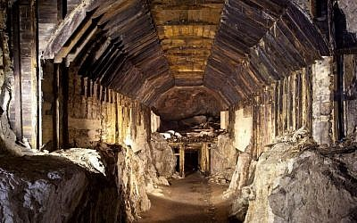 This photo from March 2012, shows a part of a subterranean system built by Nazi Germany in what is today Gluszyca-Osowka, Poland. According to Polish lore, a Nazi train loaded with gold and weapons vanished into an underground mountain tunnel like this one at the end of World War II. (AP)