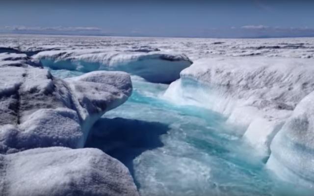 An ice sheet in Greenland. (Screen shot: YouTube)