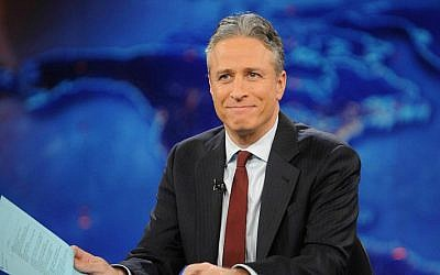 TV host Jon Stewart during a taping of 'The Daily Show with Jon Stewart' in New York, November 30, 2011 (AP/Brad Barket, File)