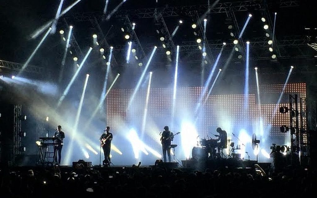 Alt-J in Rishon Lezion in 2015 (AH/Times of Israel staff)