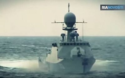 The Russain Buyan class corvette Volgodonsk. (YouTube/rianews)