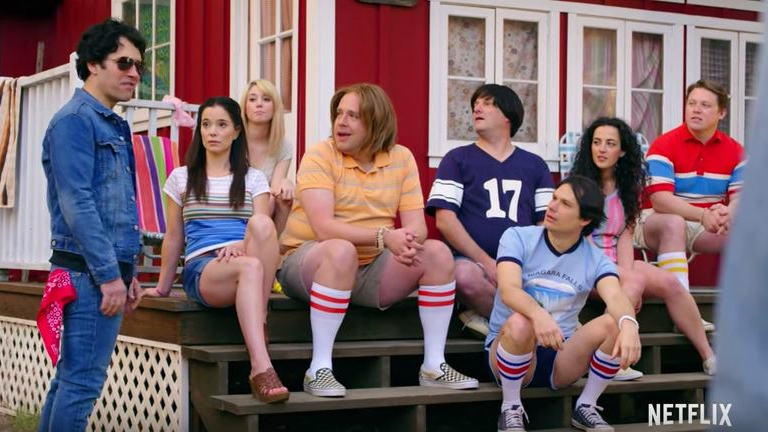 Scene from the new star-studded Neflix series, 'Wet Hot American Summer: First Day of Camp.' (YouTube screenshot)
