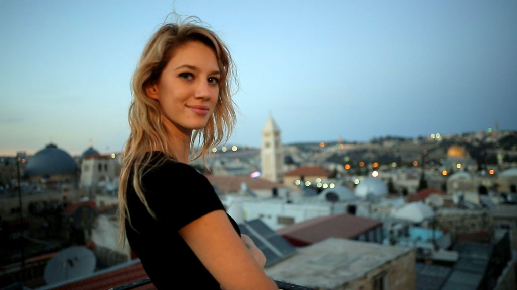 The queen of scream? Israeli actress Yael Grobglas stars in 'JeruZalem.' (courtesy)