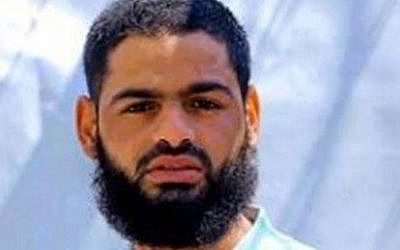 Palestinian prisoner Mohammed Allaan, a member of Islamic Jihad, has been on hunger strike for 63 days as of August 18, 2015. (AFP)