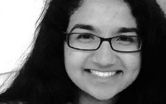 J Street U's new president Amna Farooqi, a Muslim-American student of Pakistani descent. (Courtesy)