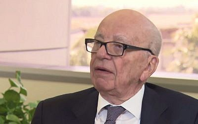 Media mogul Rupert Murdoch (YouTube screen capture)