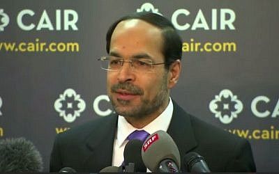 Executive director of the Council on American-Islamic Relations, Nihad Awad. (screen capture: YouTube)