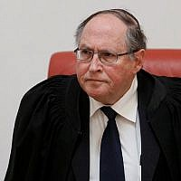 Former Supreme Court justice Elyakim Rubinstein in 2012. (Uri Lenz/Flash90)
