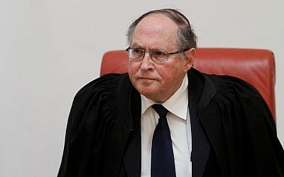 File: Supreme Court Justice Elyakim Rubinstein seen in a photo from 2012. (Uri Lenz/FLASH90)