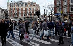 Illustrative photo of Amsterdam, Holland, December 19, 2011. (Nati Shohat/Flash90)
