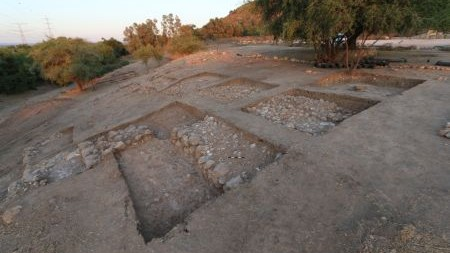 Israeli Archaeologists announce the discovery of a monumental city gate and fortification of the biblical city of Philistine Gath (home of Goliath) on August 4, 2015. (Bar Ilan University)
