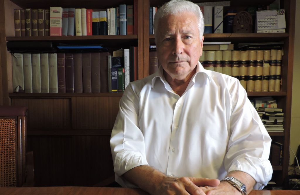 Renzo Gattegna, president of the Union of Italian Jewish Communities, says the vibrant Jewish cultural offerings in Italy offset its declining numbers. (Ben Sales/JTA)