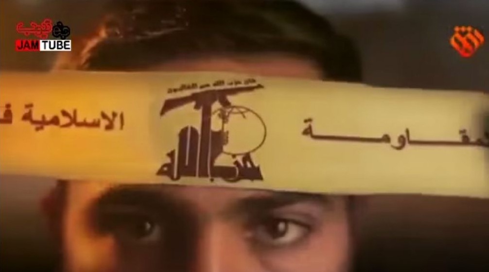"An animated Muslim warrior donning a Hezbollah bandanna before ""destroying Jerusalem"" in a new animated clip published by an Iranian design house affiliated with the country's Revolutionary Guards. (Screen capture YouTube)"