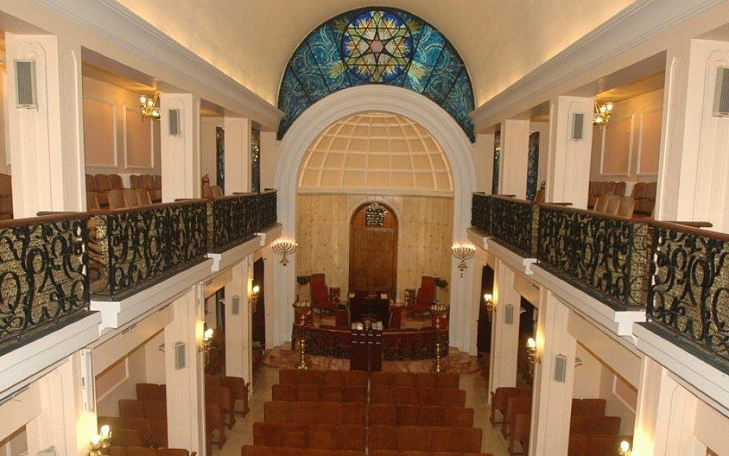 Interior of Istanbul's Bet Yisrael synagogue. (courtesy Turkish Jewish community)