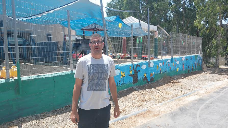 Itzik Tayar, education coordinator for Harish (Photo by Simona Weinglass)