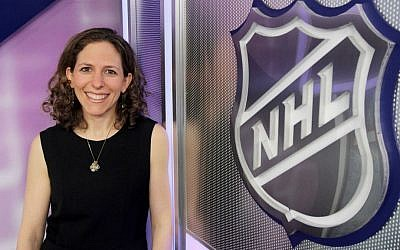 Jessica Berman, a vice president and deputy general counsel for the National Hockey League, says she has a 'dream job.' (Thomas Nycz/NHLI/via JTA)