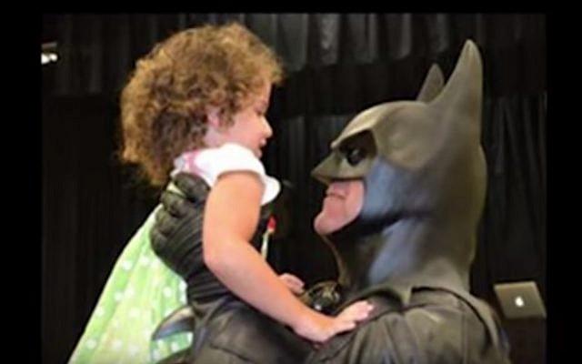 Lenny Robinson, batman impersonator, would volunteer with sick children in Maryland (YouTube screenshot)