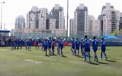 The Maccabi Petah Tikva youth soccer team (YouTube screenshot)