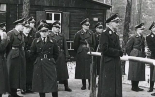 Nazi officers at the Stalag Luft III POW camp, the scene of the 'Great Escape' mass breakout (YouTube screenshot)